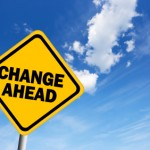 Change ahead warning sign