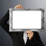looking through an empty picture frame
